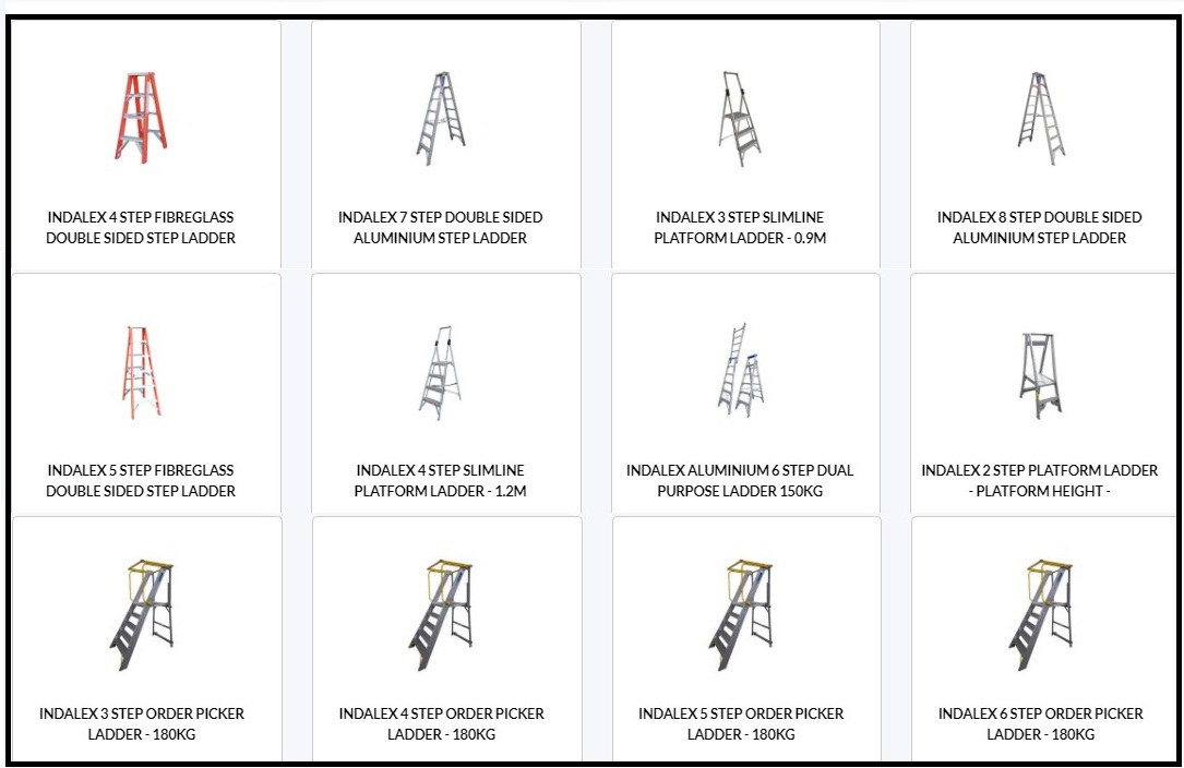 Models of industrial ladders you will find commonly