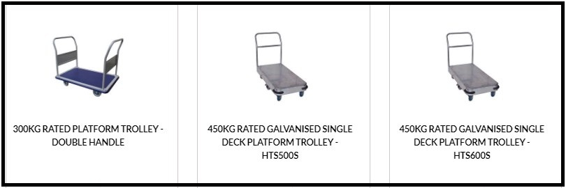 What are the factors to be considered from flatbed trolleys?