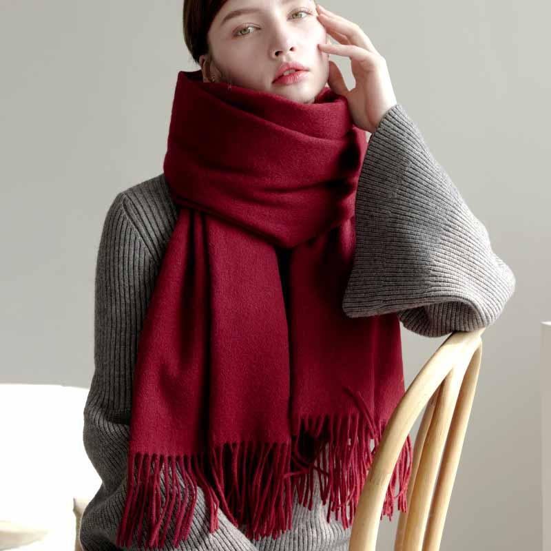 Exclusive Prints For A Cashmere Red Scarf